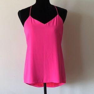 NWOT Express Reversible Pink/Orange Flowy Camisole